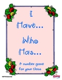 """Number Game: """"I Have...  Who Has...""""  Number Recognition,"""
