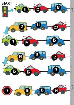 Number Game - Road Trip  {Numbers to 20}