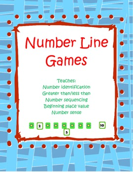 Numbers 1-30 Number Line Games