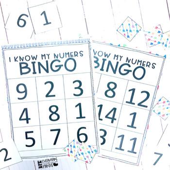 Number Games- Math (Numbers 1-20) Bingo