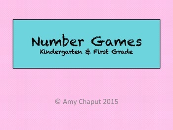 Number Games: Number Sense, Addition and Recognition