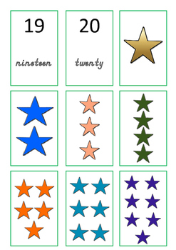 Number Games with Flash Cards Printer Friendly Version