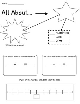 Number Graphic Organizer