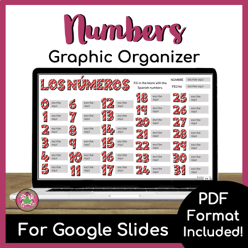 Number Graphic Organizer