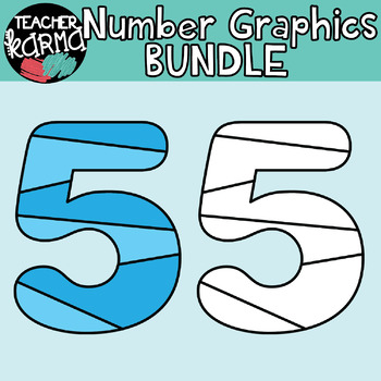 Number Clipart, Math Graphics
