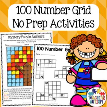 Number Grid Activity Bundle