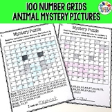 Animal Math Mystery Pictures Number Grids