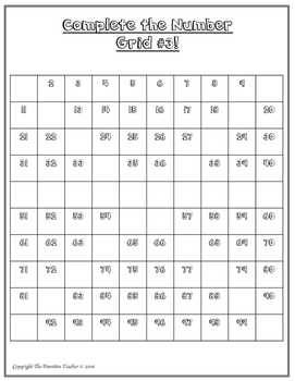 Number Grid Math Center