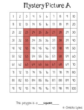 Number Grid Mystery Pictures