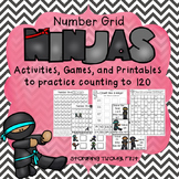 Number Grid Ninjas! Activities, Games and Printables for Counting to 120