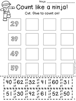 number grid ninjas activities games and printables for counting to 120. Black Bedroom Furniture Sets. Home Design Ideas