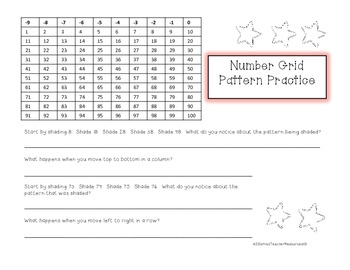 Number Grid Patterns and Puzzles - FREEBIE!