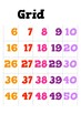 1 to 100 Number Grid Poster - Kindergarten