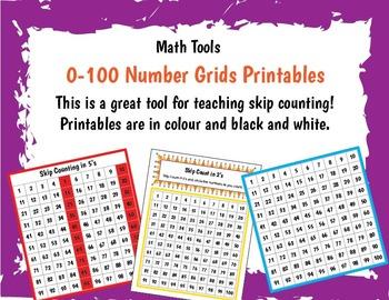 Number Grid Printable **Freebie**