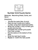 Number Grid Puzzle Math Game