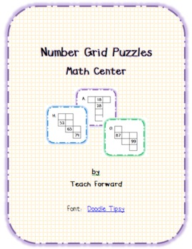 Number Grid Puzzles Math Center