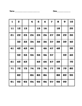 Number Grid Puzzles (Missing Numbers #1)
