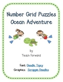 Number Grid Puzzles Ocean Adventure