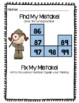 Number Grid Puzzles for Enrichment Math Center Print and Go!