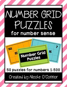 Number Grid Puzzles for Number Sense