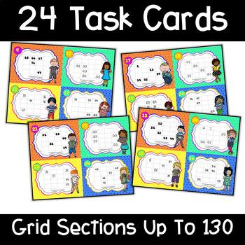Number Grid Task Cards
