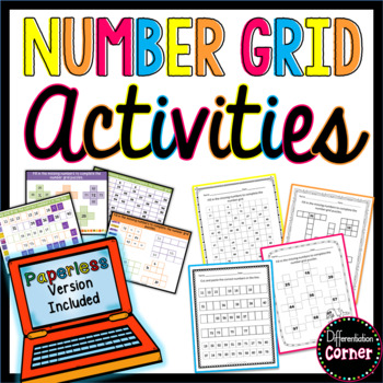 Number Grid Worksheets with 120 chart