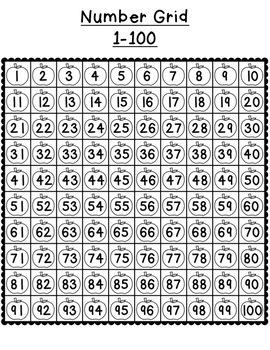 Number Grids  {1-10, 1-20, 1-50, 1-100, 1-120, 1-150}