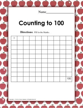 """One Hundred Days of School"" Number Grids"