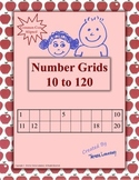"""""""One Hundred Days of School"""" Number Grids"""
