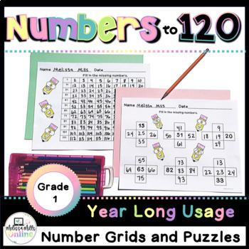 Back to School:  Number Grids Galore for First Grade (Common Core Aligned!)