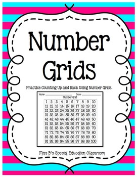 Number Grids: Practice Counting Up & Back Using Number Grids
