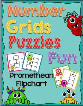 Number Grids Puzzles Fun Flipchart {Monster Themed}