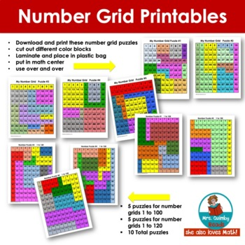 Number Grids - Skip Counting - Computation - Grades K-1, Homeschool