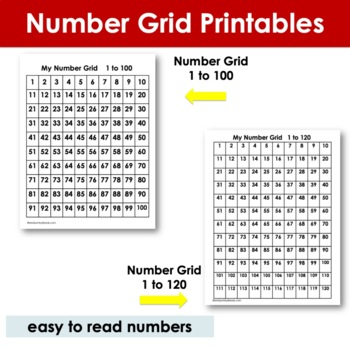 Number Grids - Skip Counting - Computation - (Math) Counting-Place Value