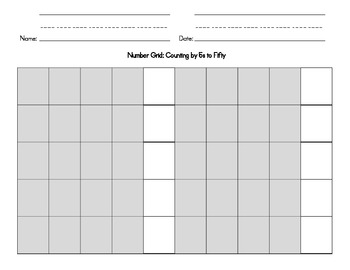 Number Grids for Counting Practice