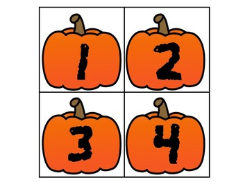 Number Guessing Game: Numbers 1 - 20 (Fall Theme)