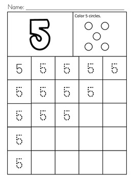Number Handwriting Practice 0-30