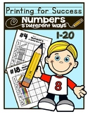 Writing Numbers Practice!  5 Different Ways!! 0-20