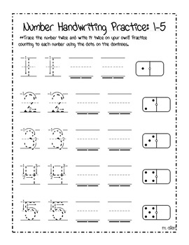 number handwriting practice sheets 1 20 by miranda allen tpt. Black Bedroom Furniture Sets. Home Design Ideas