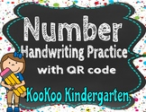 Number Handwriting Practice with QR code