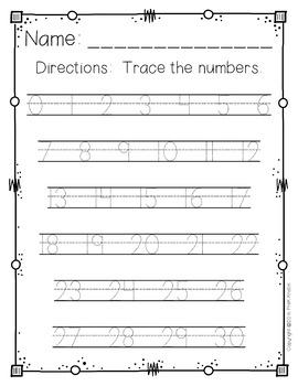 Number Handwriting Worksheets