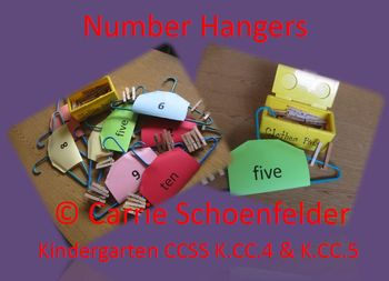 Number Hangers Counting and Cardinality CCSS K.CC.4