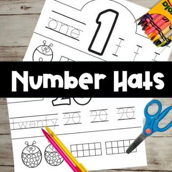 Back to School-Number Hats