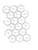 Number Hexagons French numbers zero through sixty-nine