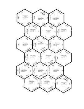 Number Hexagons French numbers zero through two thousand