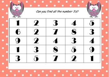 Number Hunt 1 - 5 Freebie