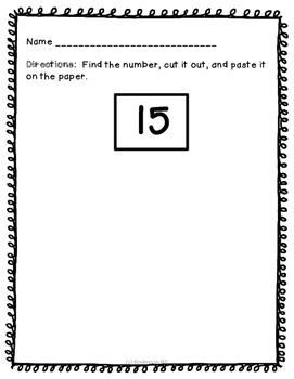 Number Recognition: Number Hunt (1-50)