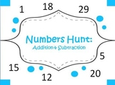 Number Hunt: Addition and Subtraction Problem Stations