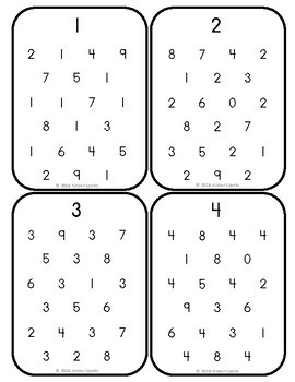Number Hunt- Find the numbers 1 to 20