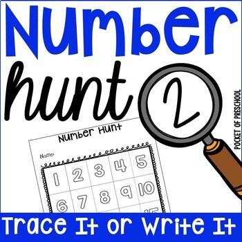 Number Hunt for Preschool, Pre-K, and Kindergarten